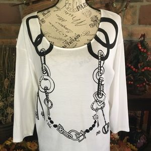 Chain Link Detail Tunic
